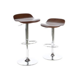 Winsome Kallie Air Lift Adjustable Stool in Cappuccino (Set of 2