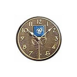 Whitehall Products Blue Dard Hunter Rose Clock In French Bronze