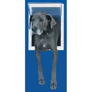 Perfect Pet Super Large White Aluminum Pet Door