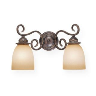 Vaxcel Mont Blanc Vanity Light in Aztec Bronze   Energy Star