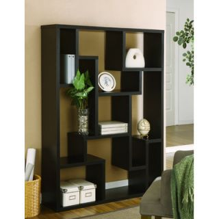 Hokku Designs Deangelo Display Stand/Bookcase/Room Divider in Black