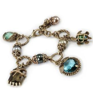 Sweet Romance Nautical Beachcomber Charm Bracelet   SR_BR659 SIL