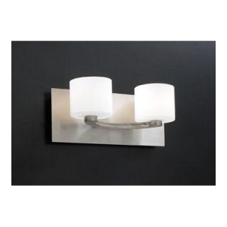 PLC Lighting De Lion Vanity Light in Satin Nickel   7612 Matte