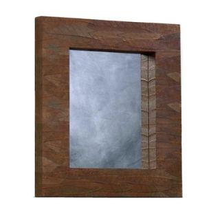 Linon Mahogany Leaf Rectangle Mirror   AOTO MIR019RECT 1