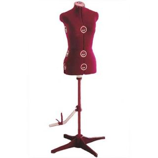 Singer Adjustable Large Dress Form in Red