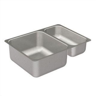Moen Camelot 25 x 22 Unequal Double Bowl Drop In Sink