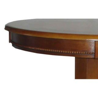 ... Boraam Florence Pedestal Pub Table In Brush Oak ...