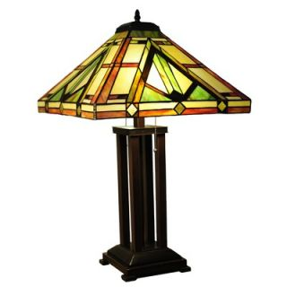 Chloe Lighting Tiffany Style Mission Table Lamp with 264 Glass Pieces