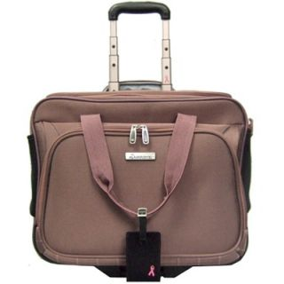 McBrine Luggage Pink Ribbon Deluxe Laptop Bag on Wheels   A900CC