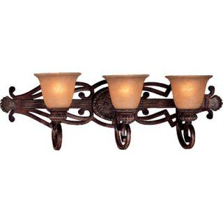 Lavery Belcaro Three Lamp Vanity Light in Belcaro Walnut   5953 126