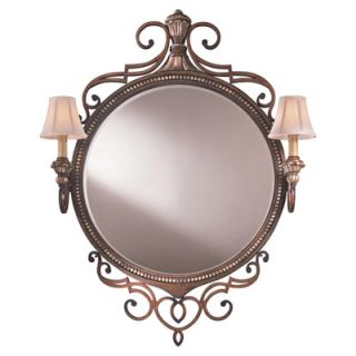 Ambience Belcaro Two Light Mirror in Belcaro Walnut   50670 126
