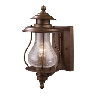 Landmark Lighting Wikshire Outdoor Wall Lantern in Coffee Bronze