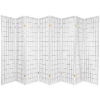 Oriental Furniture Window Pane Shoji 8 Panel Screen in White   SSCWP