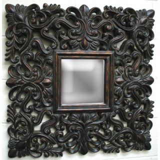 Imagination Mirrors Antique Lace Wall Mirror in Dark Gold   WD10014