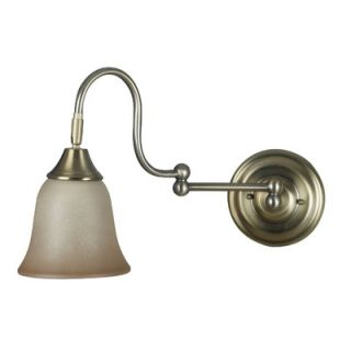 Kenroy Home Horton Swing Arm Wall Lamp in Vintage Brass