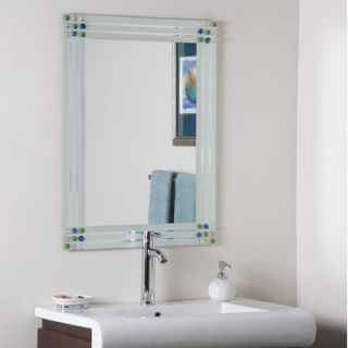 Decor Wonderland Square Bejeweled Frameless Mirror