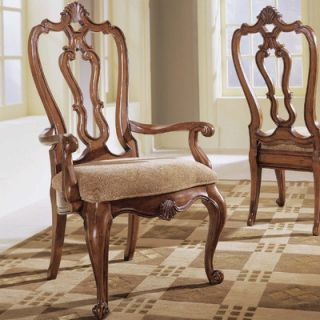 Universal Furniture Villa Cortina Carved Back Arm Chair