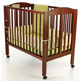 Dream On Me 3 in 1 Portable Folding Crib in Cherry
