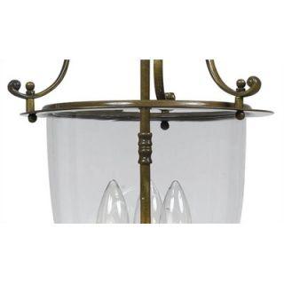 Crystorama Bell Jar 3 Light Convertible Foyer Pendant