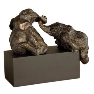 Uttermost Playful Pachyderms Sculpture in Antiqued Bronze Patina