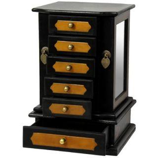 Oriental Furniture Side Mirror Jewelry Box