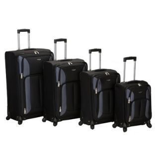 Rockland Impact 4 Piece Spinner Luggage Set