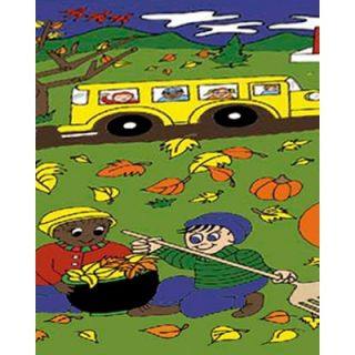 Flagship Carpets Educational Fall Alphabet Kids Rug