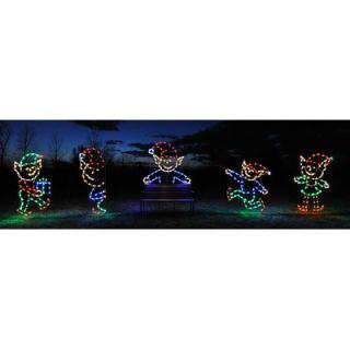 Holiday Lighting Specialists Elf   Running Christmas Light