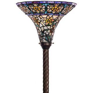 Warehouse of Tiffany Yellow Rose Torchiere Lamp   BB75B+1845