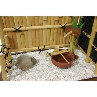 Oriental Furniture Zen Bamboo Mini Rock Garden   WD98091II