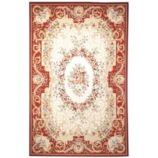 Safavieh Chelsea Ivory/Red Empire Rug   HK75A