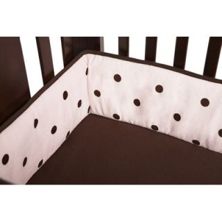 American Baby Company Heavenly Soft Minky Dot Crib Bumper