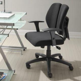 High Back Leather Executive Chair with Nailhead Arms   OC 150 BK