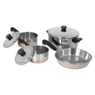 Revere Cookware 400 Line Stainless Steel 7 Piece Cookware Set