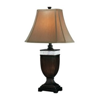 Lite Source Shelldon Table Lamp in Dark Walnut   LS 21062