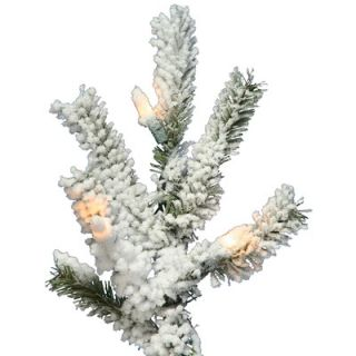 Vickerman Flocked Alpine 7 Artificial Christmas Tree with Clear