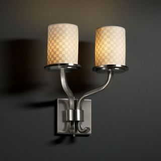 Justice Design Group Limoges Sonoma Two Light Wall Sconce with