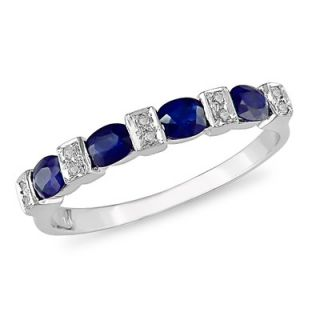 Amour White Gold Diamonds and Sapphire Fashion Ring   RDGKTW1445S