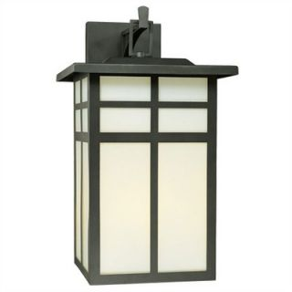 Thomas Lighting Mission Outdoor Wall Lantern in Matte Black