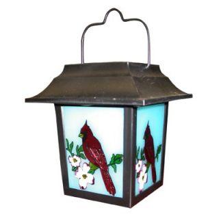 Alpine Solar Cardinal Lantern with White Led Lights   SLC170SLR