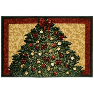 Shaw Rugs Home for the Holidays Christmas Tree Holiday Novelty Rug