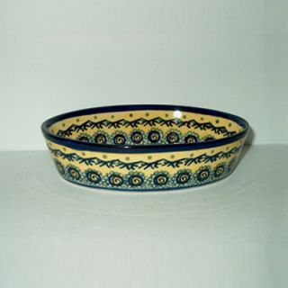 Polish Pottery 6 Oval Baking Pan   Pattern DU1