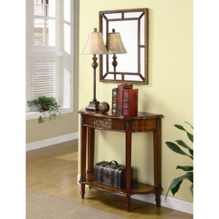 console table w beveled mirror backdrop entry hall sofa foyer accent