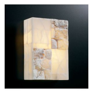PLC Lighting Candice Wall Sconce   7314 Natural Alabaster