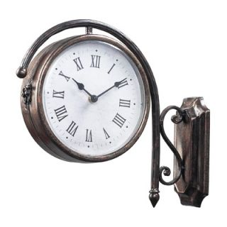 Sterling Industries Antique Double Sided Wall Clock in Bronze   125