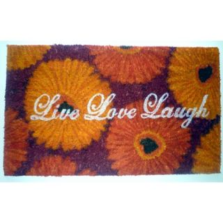 Geo Crafts Live Love Laugh Doormat