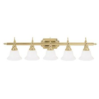 Livex Lighting French Regency Vanity Light in Polished Brass