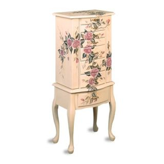 Wildon Home ® Westport Hand Painted Roses Floral Jewelry Armoire