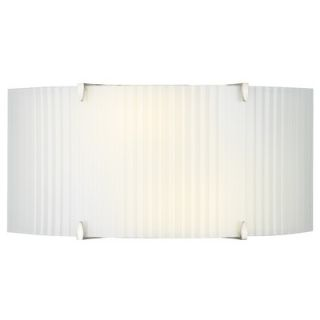 Philips Forecast Lighting Edgebow Wall Light in Satin Nickel with