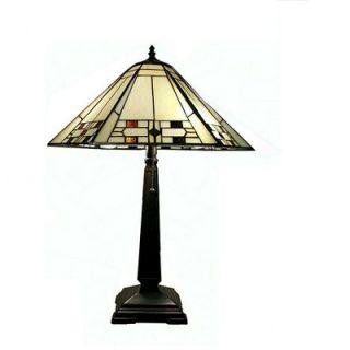 Warehouse of Tiffany White Mission Table Lamp   THS18072/TG321